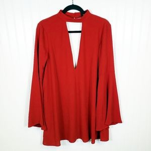 NWT Lulu's Red Tunic Top